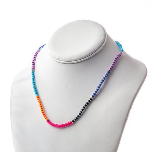 Seaside Skinny Necklace- Colorblock