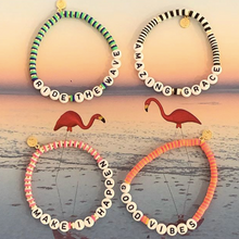 Load image into Gallery viewer, Seaside Skinny Word Bracelets