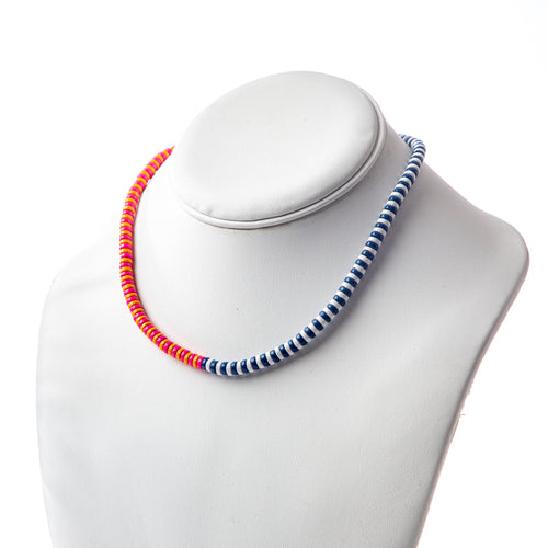 Laguna Duo Necklace- Navy/Orange