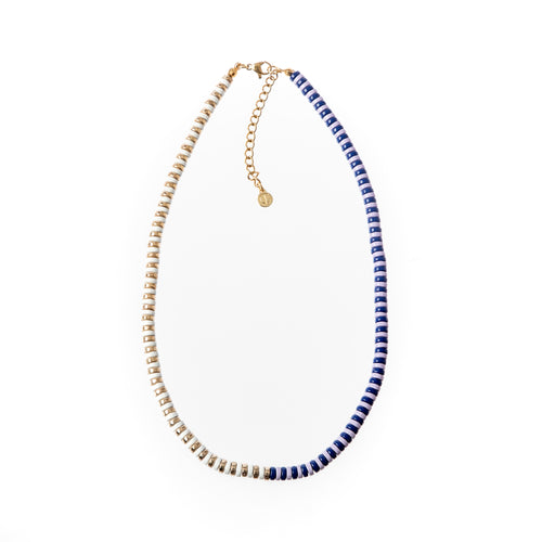 Laguna Duo Necklace- Navy/Gold