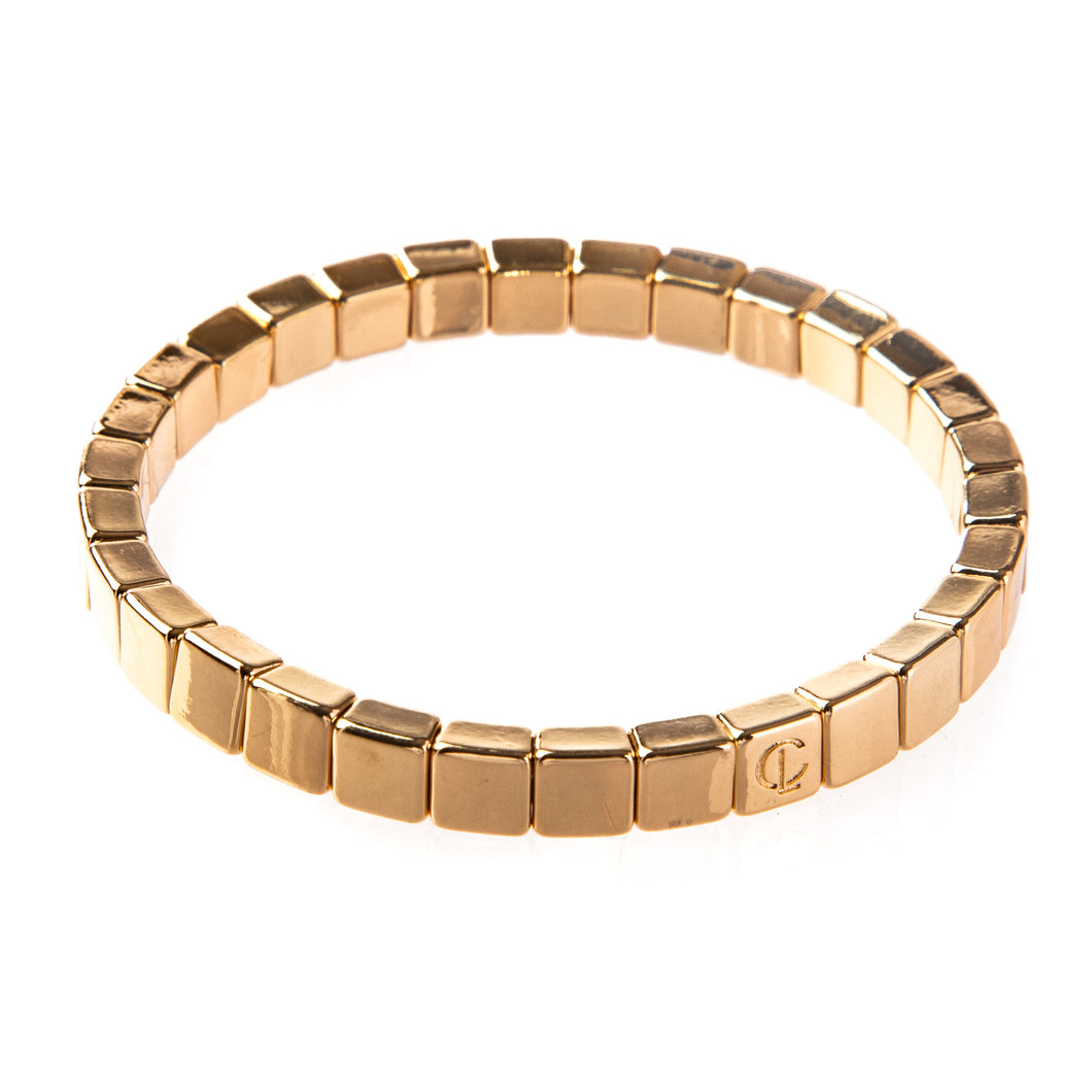 Tiny Tile Bracelet - Gold