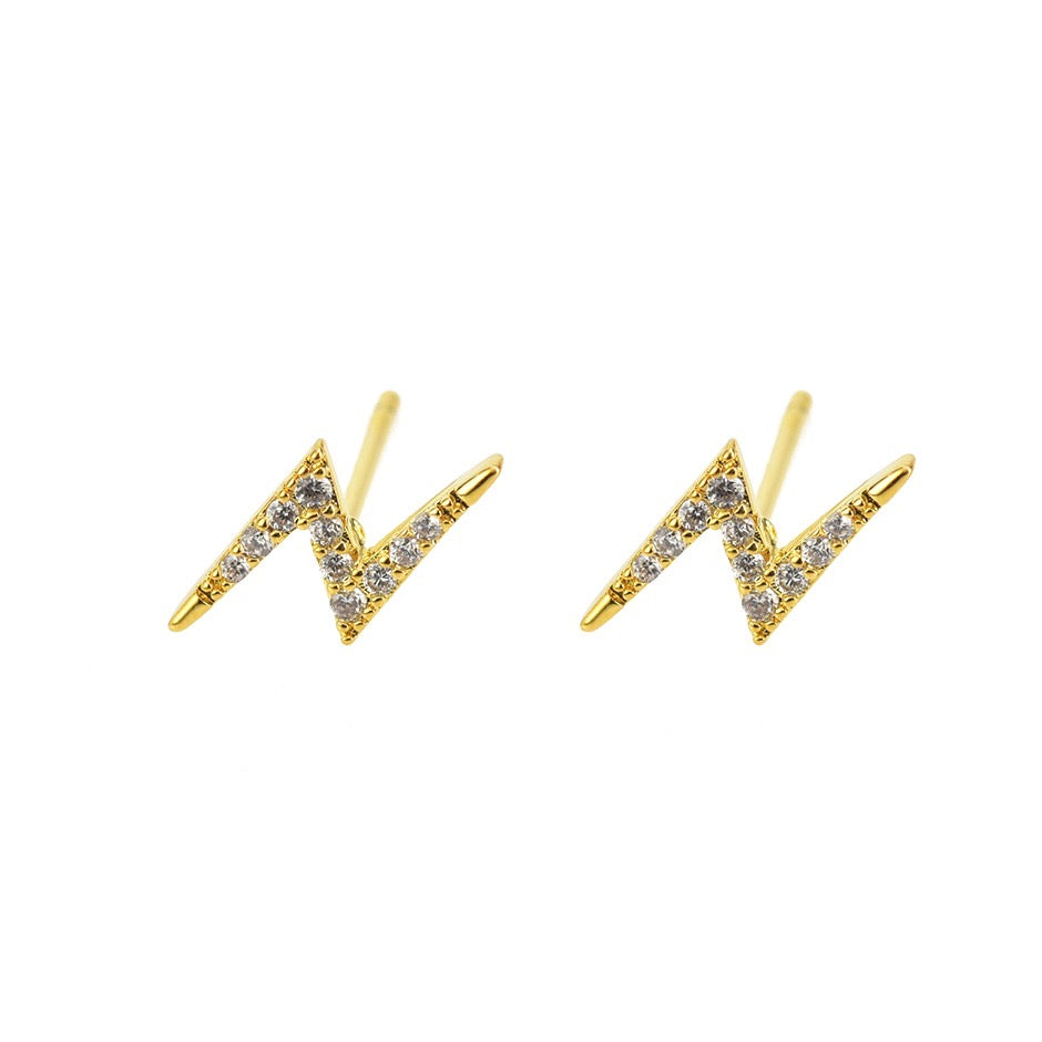 Stud Earrings- Lightning Bolt