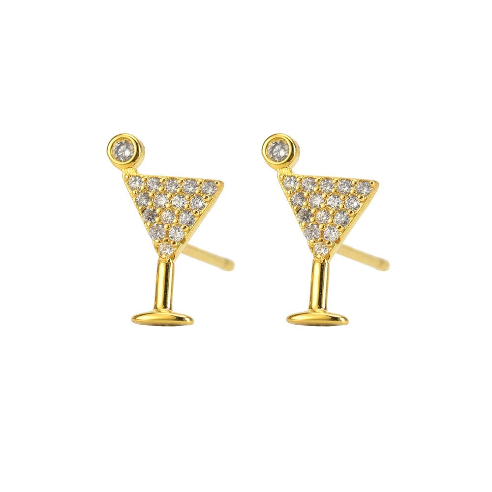 Stud earrings- Martini Glass