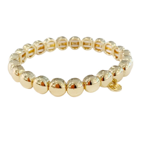 Mini Bubble Bracelet- Gold 7mm