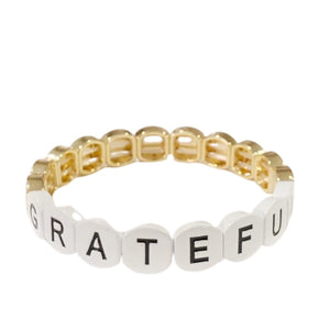 Word Tile Bracelet- Grateful