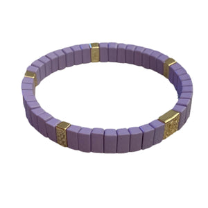Tile Mini Bar Bracelet- Lavender