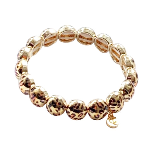 Gold Leopard Bubble Bracelet