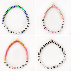 "Seaside ""Make it happen"" disc bracelet"