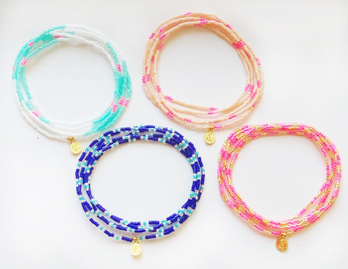 Malibu Wrap Bracelet/Necklace - Royal/Turq