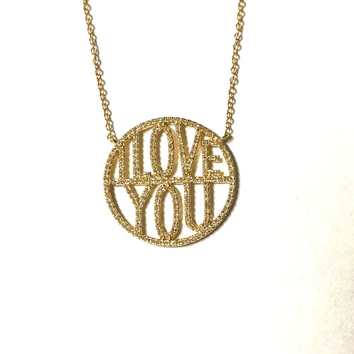I Love You Diamond Necklace