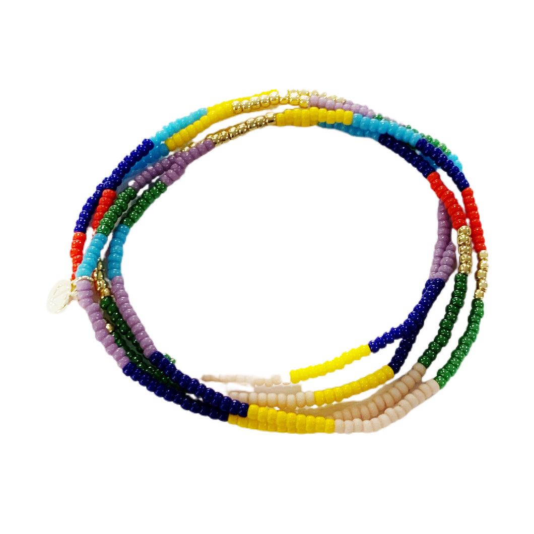 Seed Bead Bracelet Set- Prime Colorblock