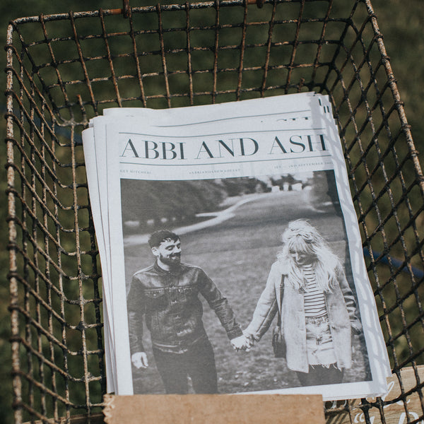 Wedding Newspaper design: 5 Great Things About Wedding Newspapers by Made by Wood & Wood