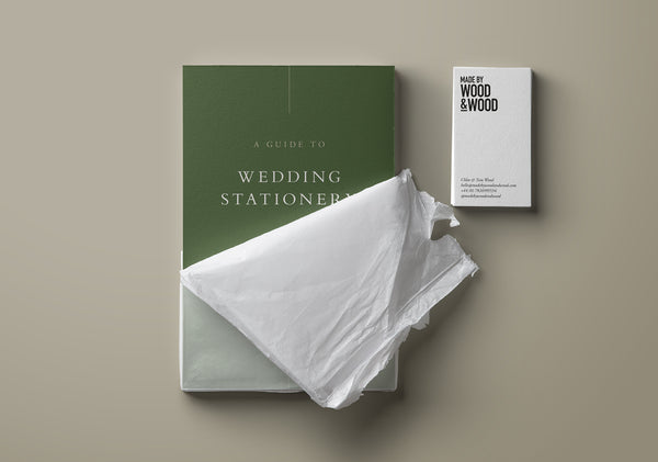 Free Wedding Stationery Guide by Made by Wood & Wood