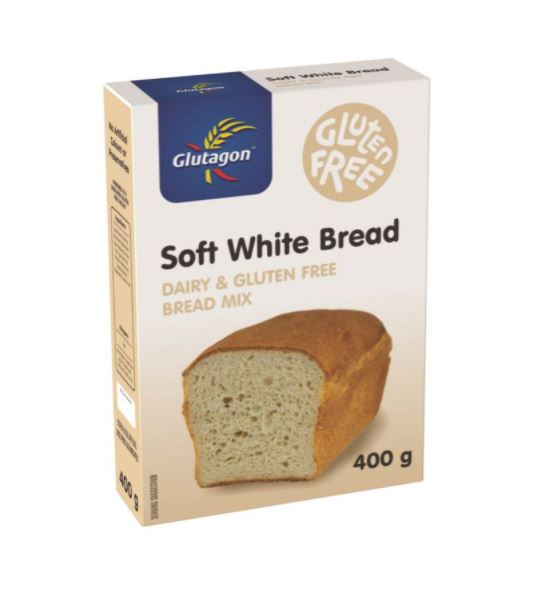 GLUTAGON SOFT WHITE BREAD MIX 6 UNITS (1 BOX UNIT – 400G)