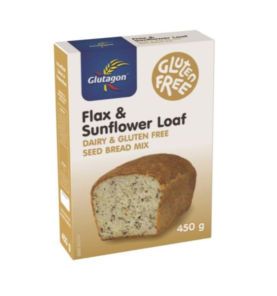 GLUTAGON FLAX & SUNFLOWER LOAF MIX 6 UNITS (1 BOX UNIT – 400G)