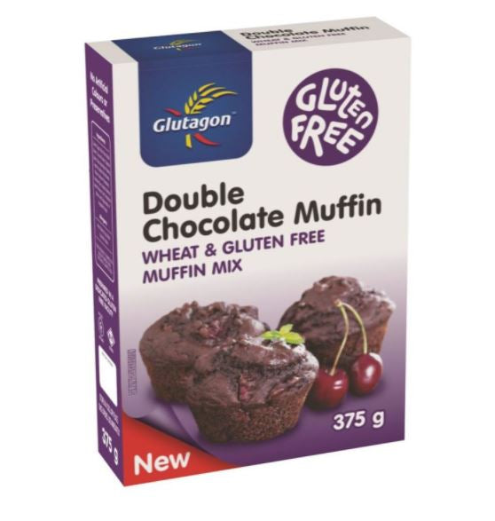 GLUTAGON DOUBLE CHOCOLATE MUFFIN MIX 6 UNITS (1 BOX UNIT – 375G)