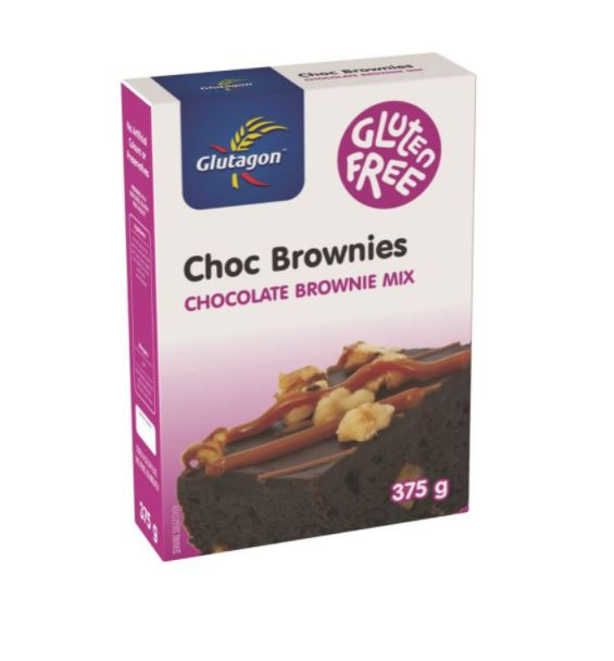 GLUTAGON CHOCOLATE BROWNIE MIX 6 UNITS (1 BOX UNIT – 375G)