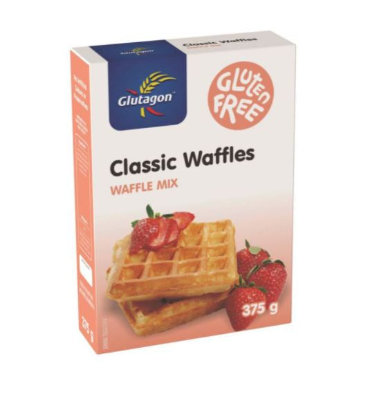 GLUTAGON CLASSIC WAFFLE MIX 6 UNITS (1 Box unit – 375g)