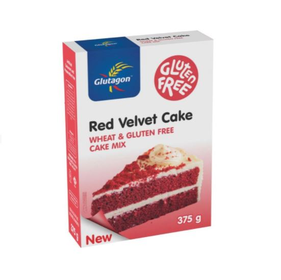 GLUTAGON RED VELVET CAKE MIX 6 UNITS (1 BOX UNIT – 375G)