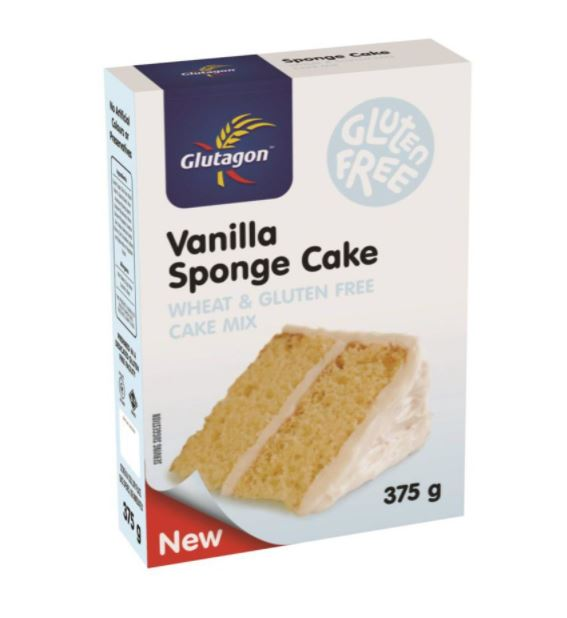 GLUTAGON VANILLA SPONGE CAKE MIX 6 UNITS (1 BOX UNIT – 375G)