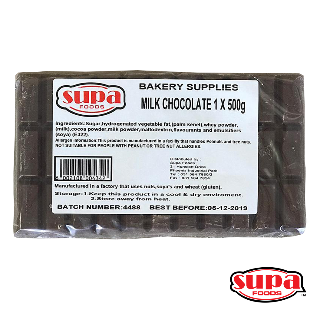 A 500g milk chocolate slab