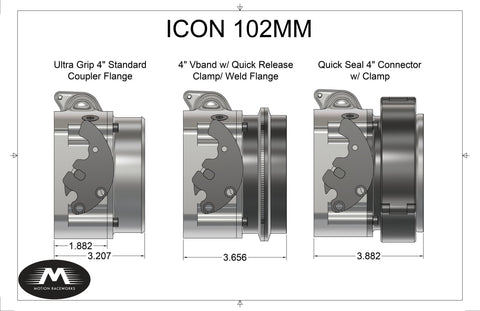 Motion Raceworks ICON throttle body with attachments