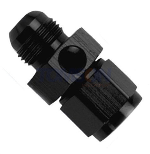 "Fragola -8 AN Male To -8 AN Female Gauge Adapter 1/8"" NPT Port 495006-BL-Fragola-Motion Raceworks"