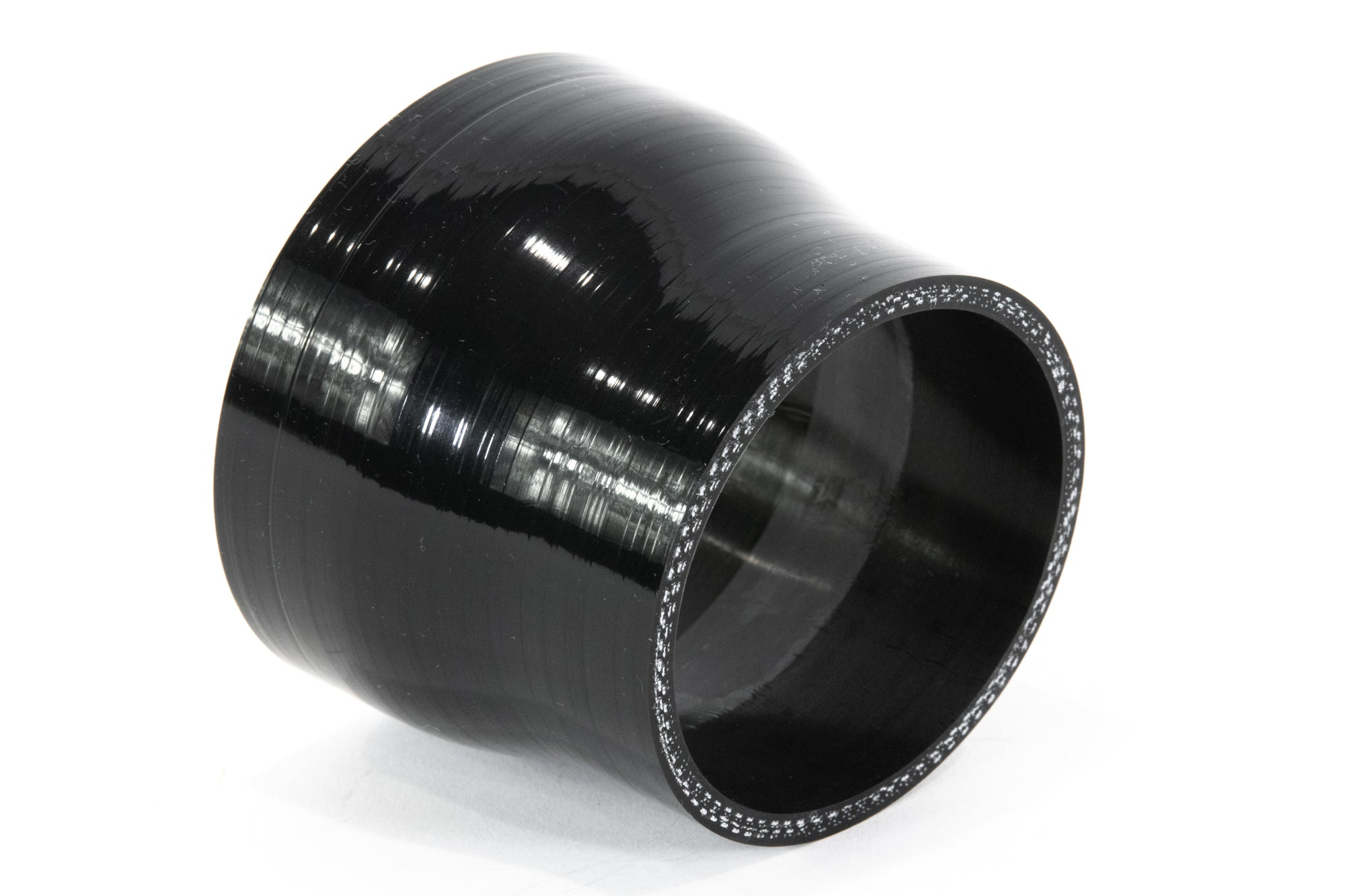 "3"" to 4"" ID Transition Reinforced Silicone Coupler (Black)-Motion Raceworks-Motion Raceworks"