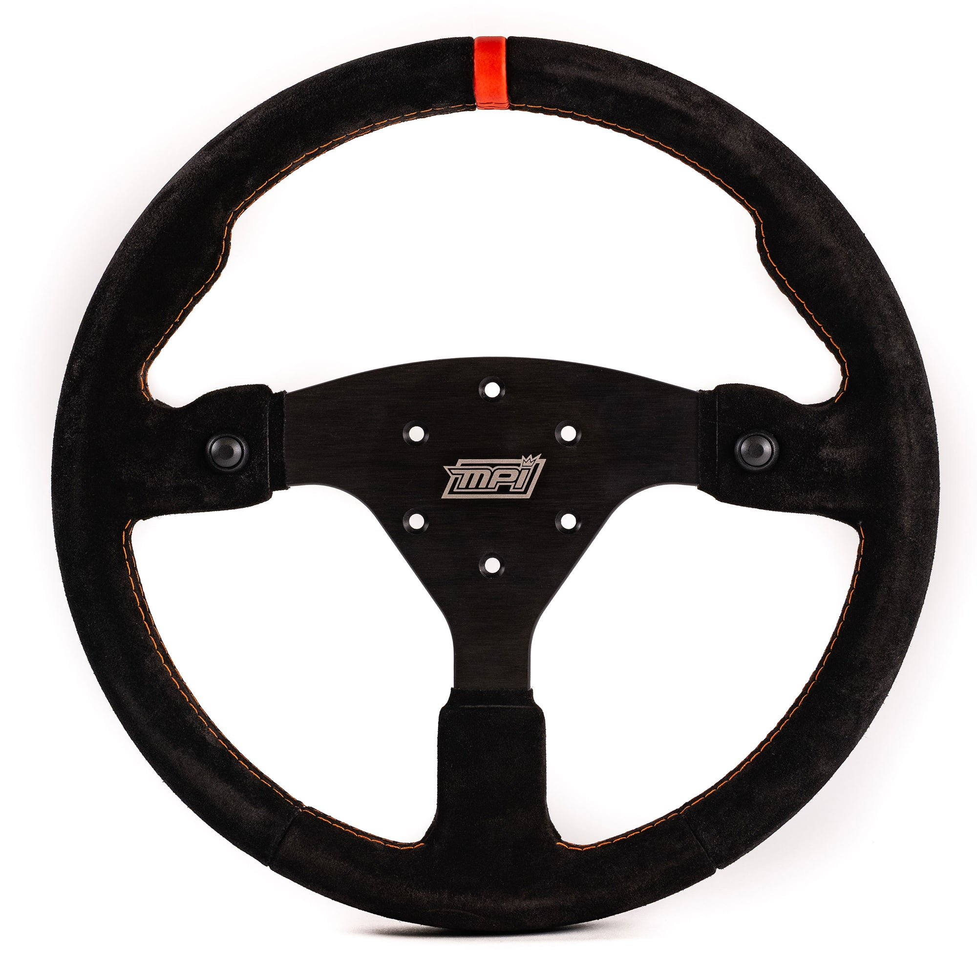 MPI Off Road Concept Specific Suede Steering Wheel w/Black Push Buttons (MPI-F-14-2B-BLK)-MPI-Motion Raceworks