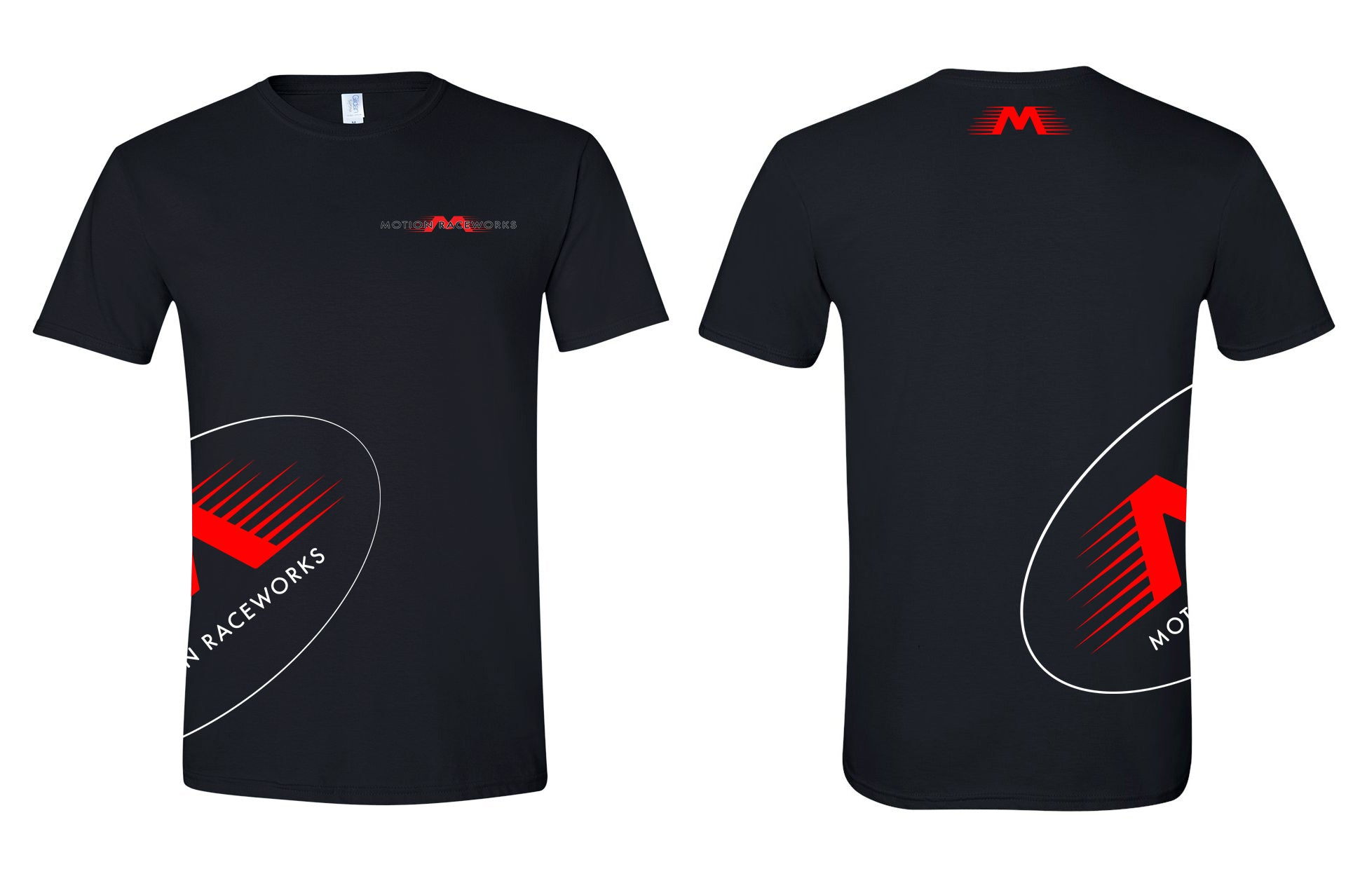 Motion Raceworks V2 Black w/ Red M T-Shirt-Motion Raceworks-Motion Raceworks