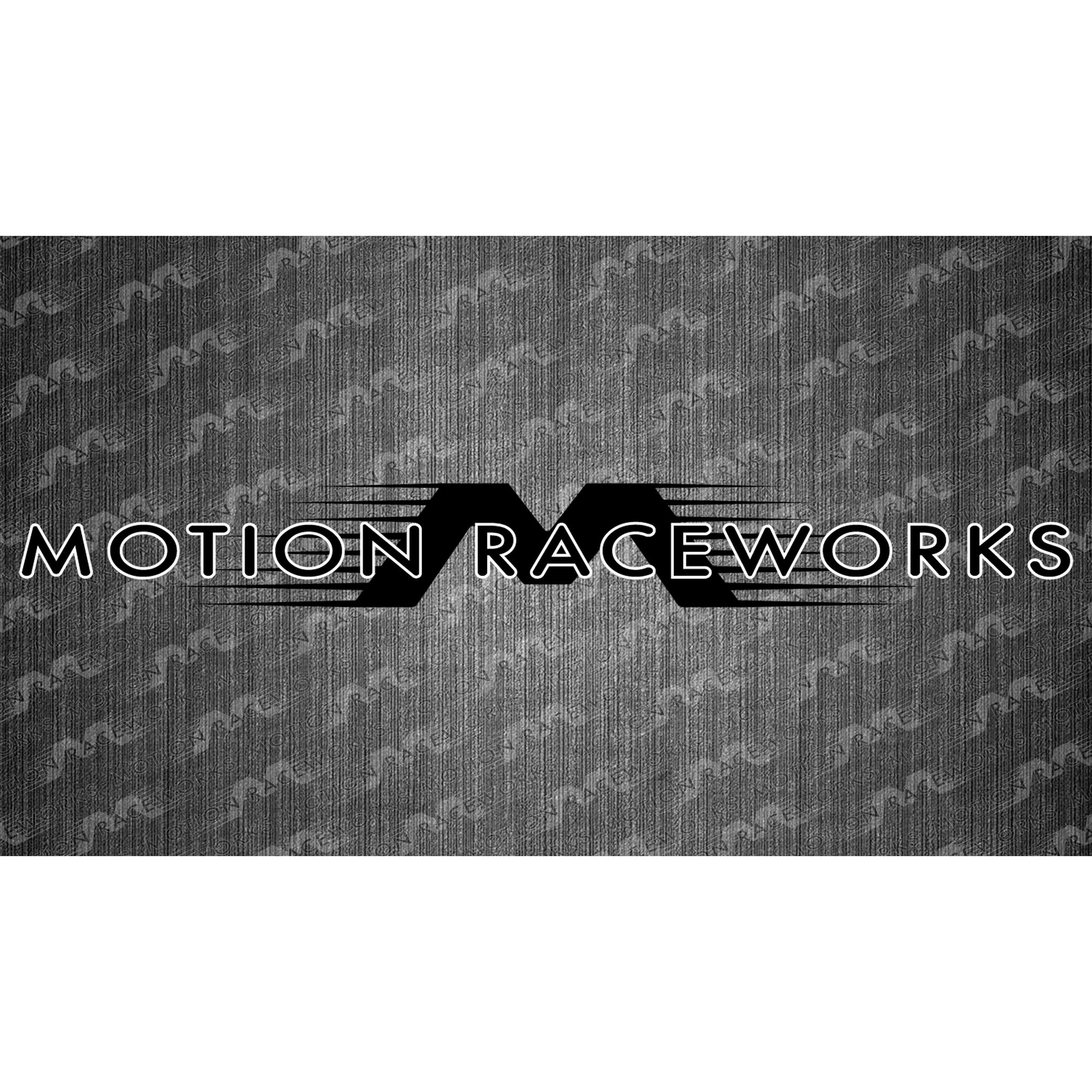 "Black/White Motion Raceworks Decal 8""x2""-Motion Raceworks-Motion Raceworks"