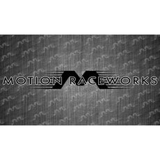 "Black/White Motion Raceworks Large Decal 48""x6"""