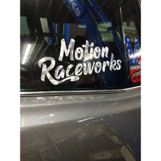 "Motion Retro Decal 8"" long"
