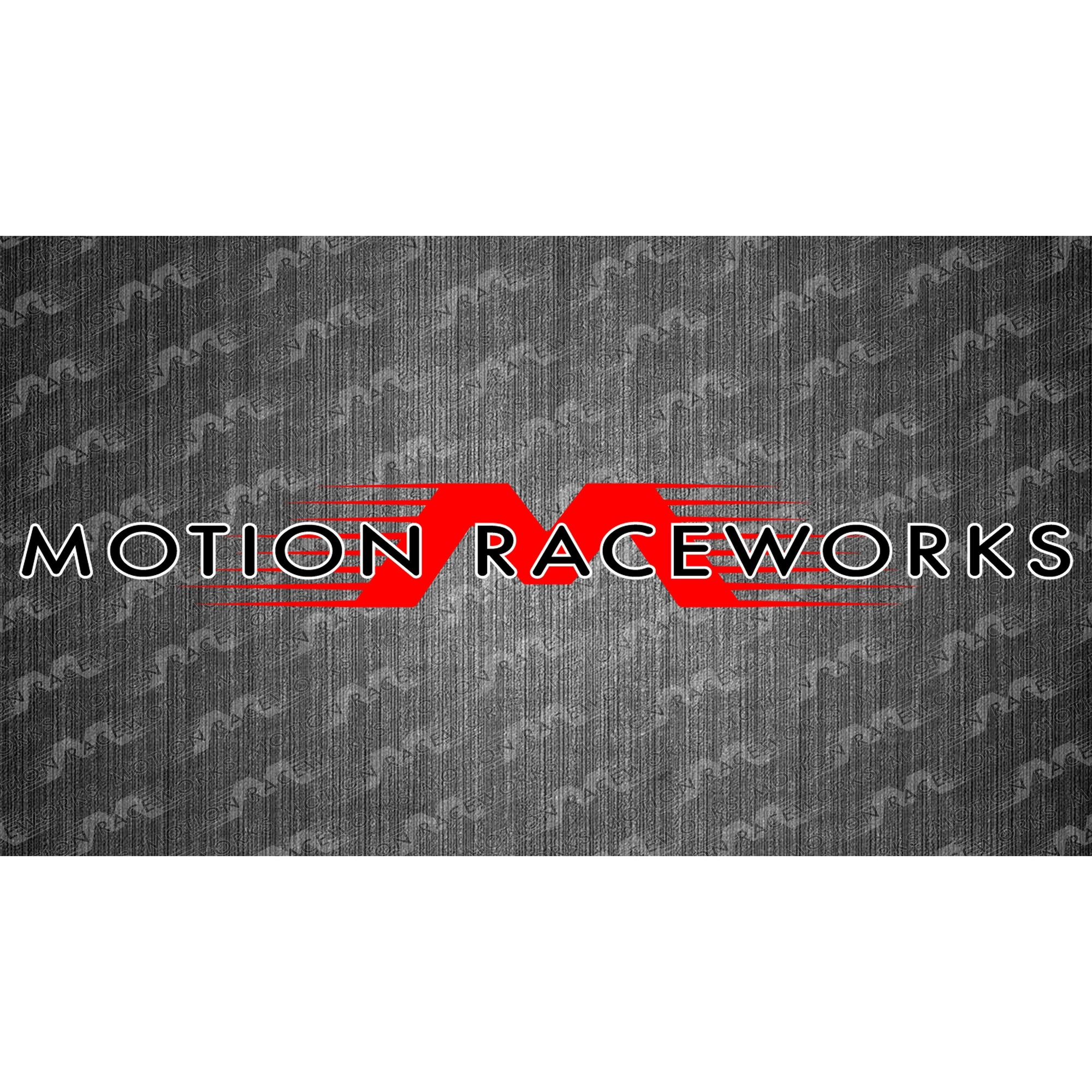 "Red/White Motion Raceworks Decal 8""x2""-Motion Raceworks-Motion Raceworks"