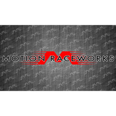 "Red/White Motion Raceworks Decal 8""x2"""