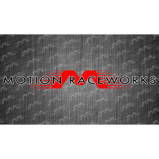 "Red/White Motion Raceworks Large Decal 48""x6"""