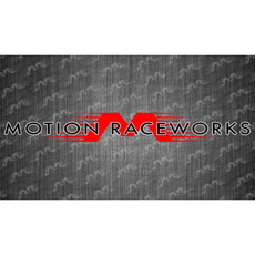"Red/White Motion Windshield Banner 36""x5"""