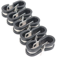"1/4"" Line Clamps 10 pack ( Fits 4AN braided hose )"