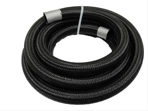 Fragola -6 AN Black Nylon Race Hose (By The Foot) 840006-Fragola-Motion Raceworks