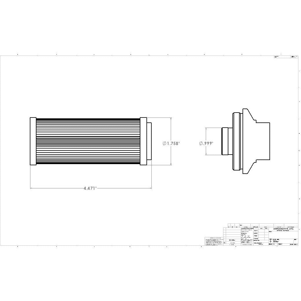 Aeromotive 100 Micron Stainless Element for ORB-12 Filter