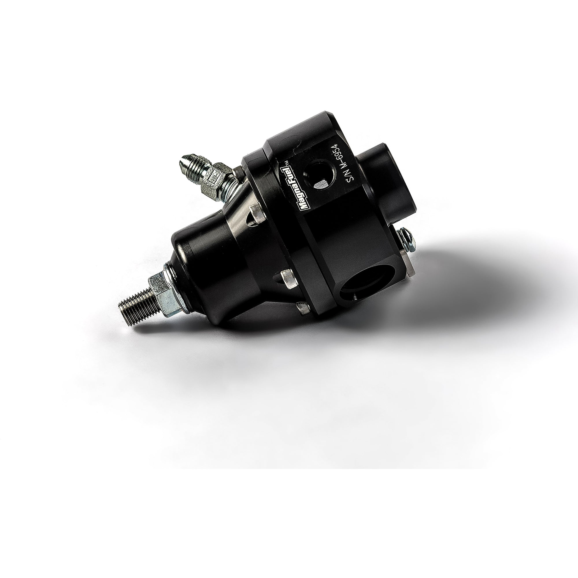 Magnafuel MP-9925-B-BLK Standard EFI Fuel Pressure Regulator Black Anodized Boost Reference Good to 900rwhp-Magnafuel-Motion Raceworks