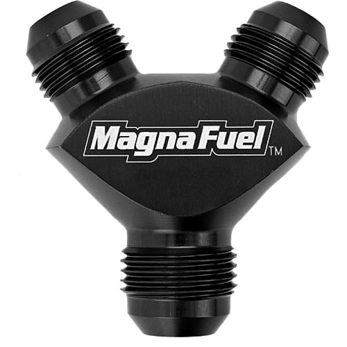 Magnafuel MP-6228-blk Dual -8AN to -12AN Y Black Anodized-Magnafuel-Motion Raceworks