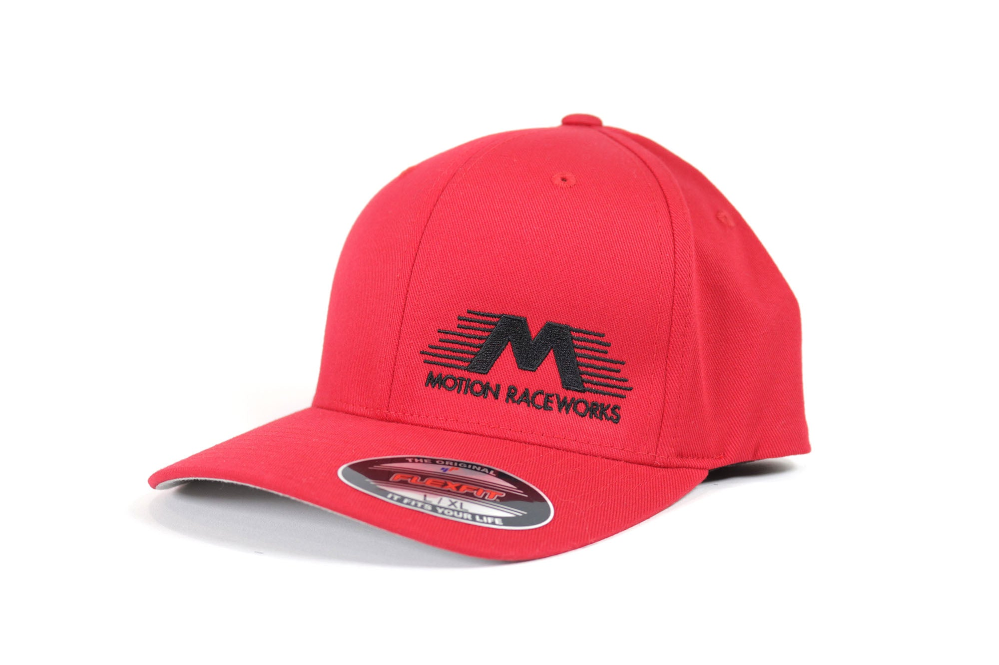 Red Motion Raceworks Flexfit Hat S/M & L/XL-Motion Raceworks-Motion Raceworks