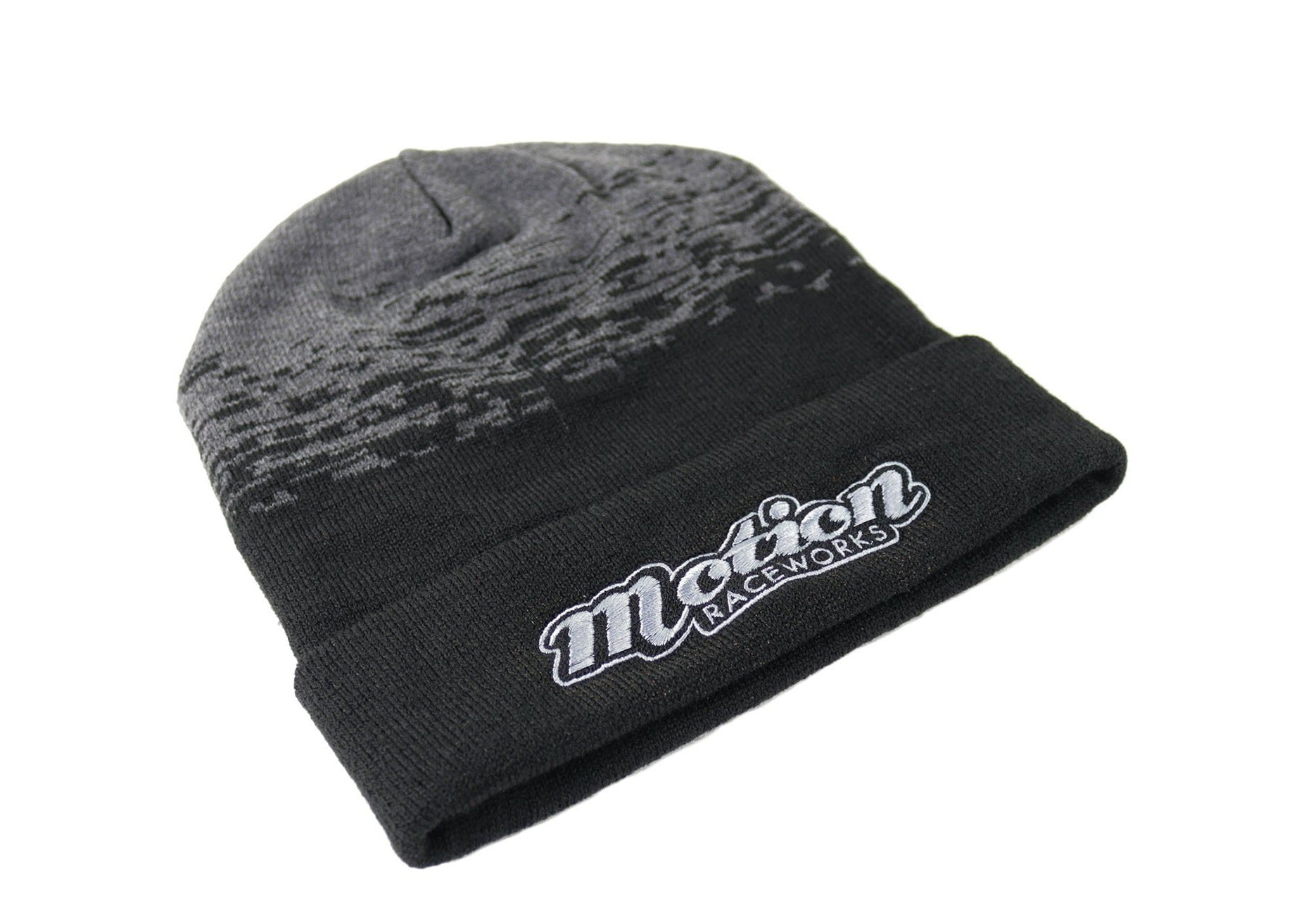 Retro Beanie Black/Dark Heather Gray-Motion Raceworks-Motion Raceworks