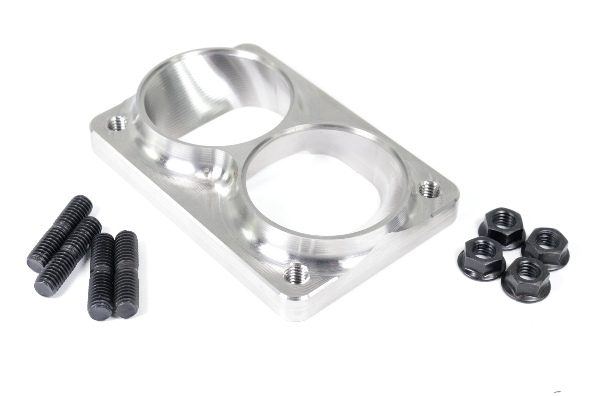 "Shearer Fab Billet Stainless T6 Flange, Dual 2.5"" Inlet SF02-02006-Shearer Fabrications-Motion Raceworks"