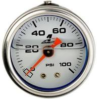 "Aeromotive 15633 0-100 psi Fuel Pressure gauge w/ Pressure Relief Button 1/8"" NPT-Aeromotive-Motion Raceworks"