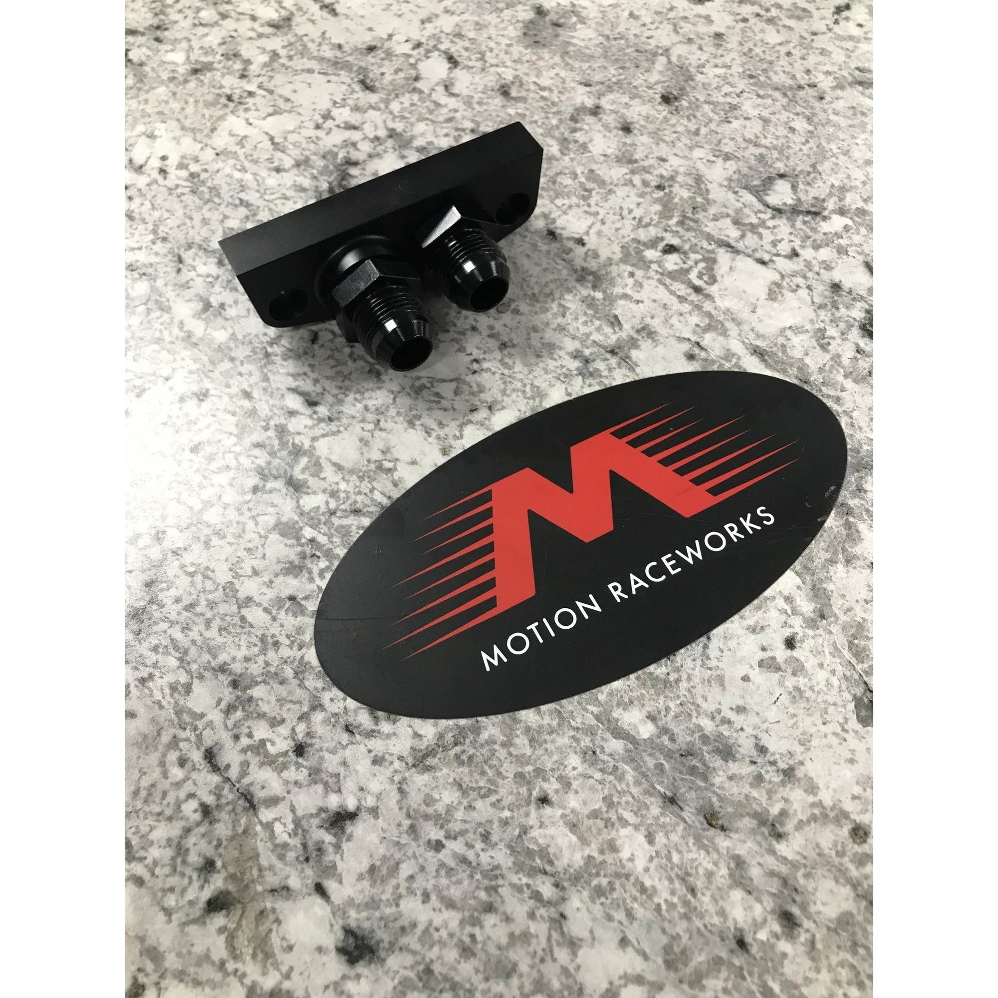 Motion Raceworks Gen V LT4 Dry Sump Oil Pan Adaptor for AN Fittings-Motion Raceworks-Motion Raceworks
