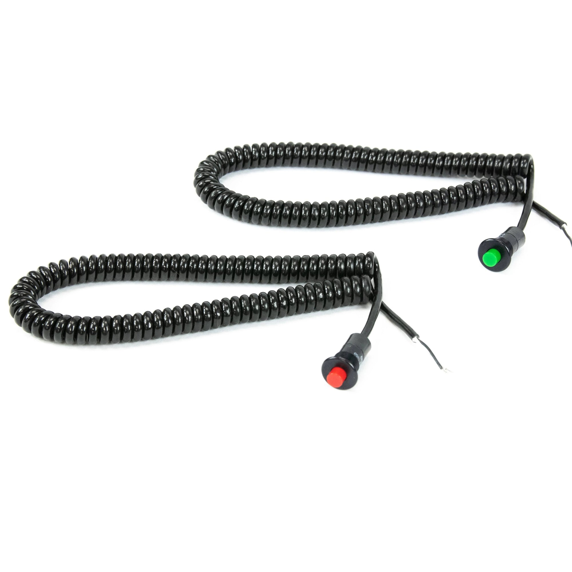 Motion Raceworks Momentary Small Push Button w/6' Wound Cord (Red or Green)-Motion Raceworks-Motion Raceworks