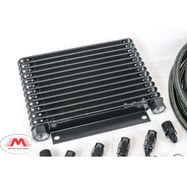 Aftermarket Powerglide Derale Trans Cooler Kit w/Fragola Lines/Fittings
