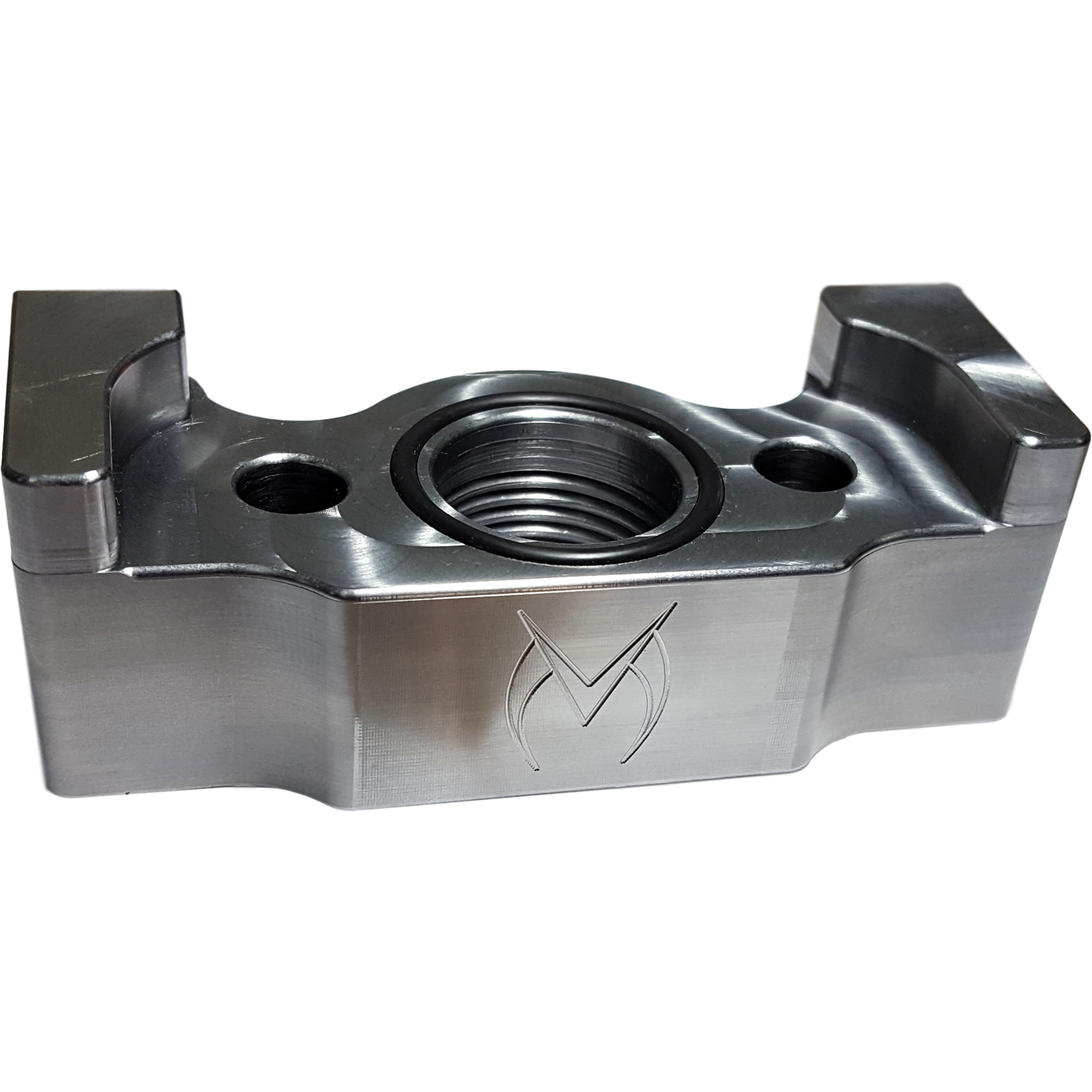 Maven Products Billet Oil Drain Large Frame Turbo Mount for Tubulular Support-Maven-Motion Raceworks